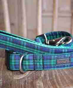 Scrufts' Black Watch Tartan Dog Collar and Lead