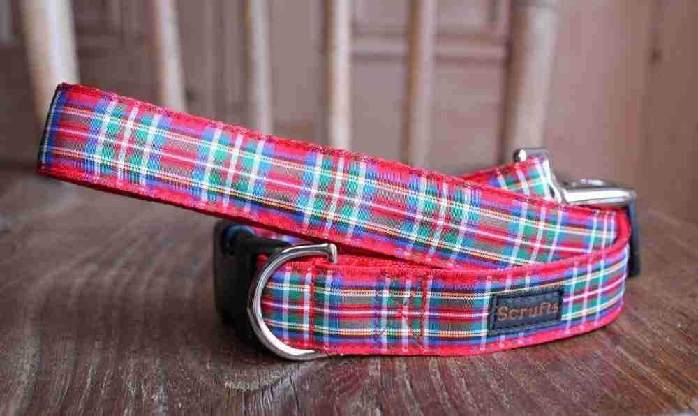 Scrufts' Royal Stewart Tartan Dog Collar and Lead