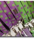 Scrufts Violet and Lime Polka Dot Dog Collar and Lead