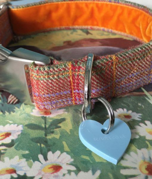 Scrufts' Cinnabar Donegal Tweed Velvet Lined Dog Collar