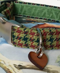 Scrufts' Mumford Tweed Velvet Lined Dog Collar