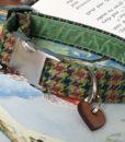 Scrufts' Mumford Tweed Velvet Lined Dog Collar