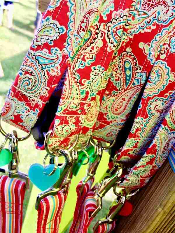 Scrufts Gypsy Paisley Dog Collar in Red/Multi