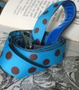 Scrufts' Bloo Turquoise and Brown Polka Dot Dog Lead