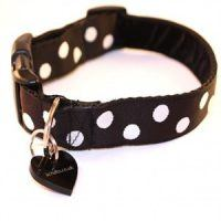 Scrufts Polo Black and White Polka Dot Dog Collar