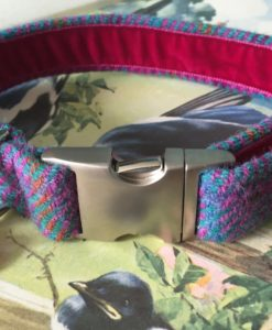 Scrufts' Berry Harris Tweed Velvet Lined Dog Collar