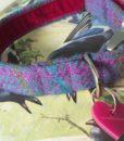 Scrufts' Berry Harris Tweed Velvet Lined Dog Collar