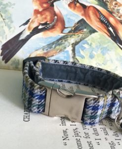 Scrufts' Frankie Velvet Lined Tweed Dog Collar