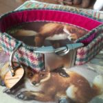 Scrufts' Bramble Tweed Velvet Lined Dog Collar