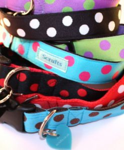 Scrufts' Polka Dot Dog Collars and Leads