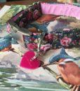 Scrufts' Lola Vintage Floral Velvet Lined Dog Collar