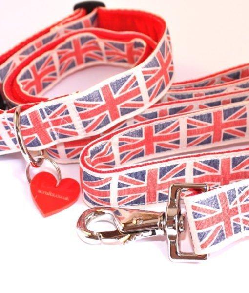Scrufts By Jingo Vintage Style Union Jack Dog Lead
