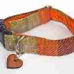 Scrufts' Harris Tweed Dog Collar in Ginger