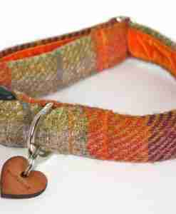 Scrufts' Harris Tweed Dog Collar in Ginger