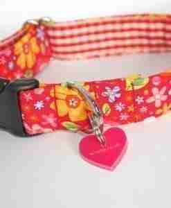 Scrufts Tansy Red Floral Dog Collar