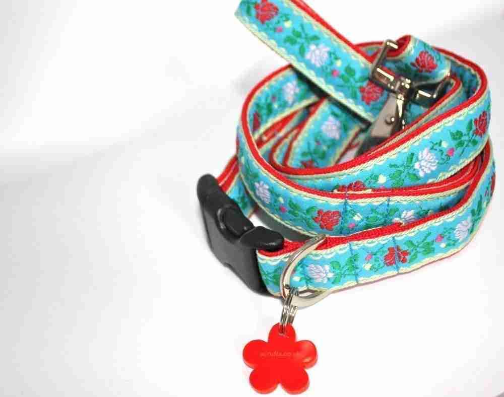 Scrufts' Eidelweiss Dog Collar and Lead