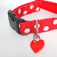 Scrufts Oslo Red and White Polka Dot Dog Collar