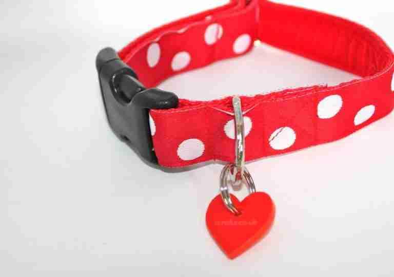 Scrufts Oslo Red and White Polka Dot Dog Collar