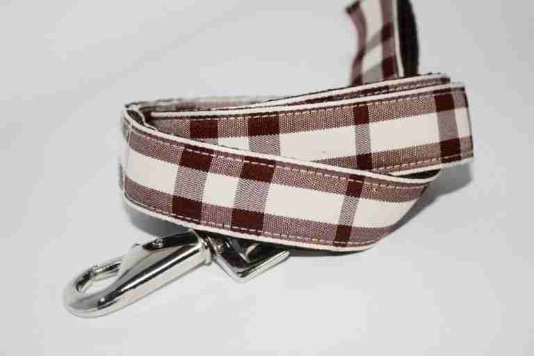 Scrufts' Bitter Chocolate and Chalk Checked Dog Lead