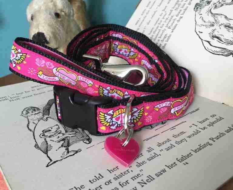 Scrufts' Captain Gracie Velvet Lined Dog Collar and Lead