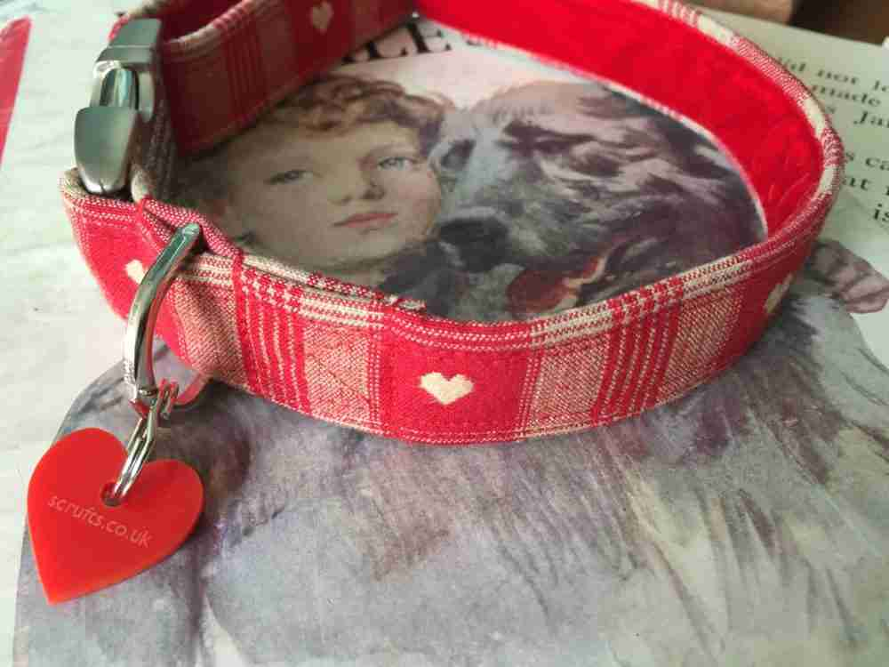 Scrufts' Sweetheart Velvet Lined Dog Collar