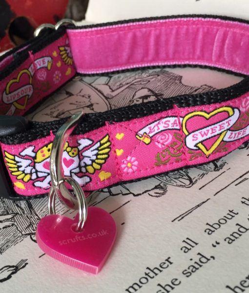 Scrufts' Captain Gracie Velvet Lined Dog Collar