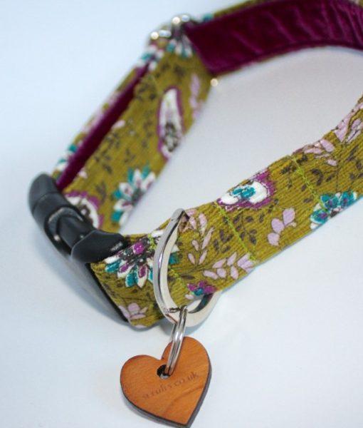 Scrufts' Rye Olive Country Corduroy Dog Collar