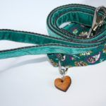 Scrufts' Teal Velvet Dog Lead