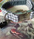Charlie Boy Velvet Lined Monochrome Dog Collar