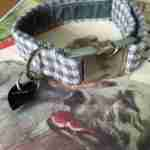 Charlie Boy Velvet Lined Monochrome Dog Collar