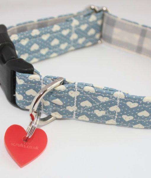 Scrufts' Blue Boy Valentine's Dog Collar