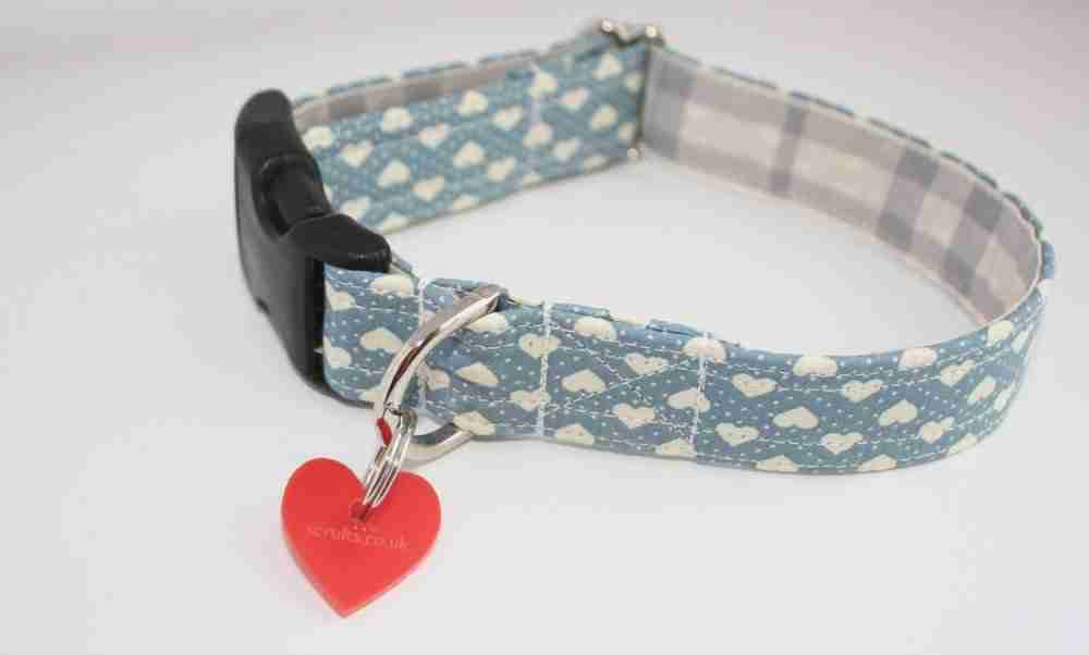 Scrufts' Blue Boy Valentine's Dog Collar