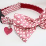 Scrufts' Pretty in Pink Bow Wow Wow Tie Valentine's Dog Collar