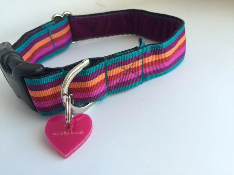 Scrufts' Brighton Striped Dog Collar