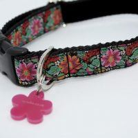 Scrufts' Frida K Floral Velvet Lined Dog Collar