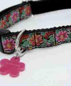 Scrufts' Frida K Floral Velvet Lined Dog Collar