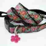 Scrufts' Frida K Floral Velvet Lined Dog Collar and Lead