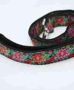 Scrufts' Frida K Floral Velvet Lined Dog Lead
