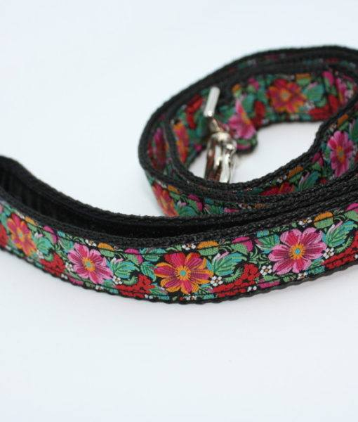 Scrufts' Frida K Floral Velvet Lined Dog Lead
