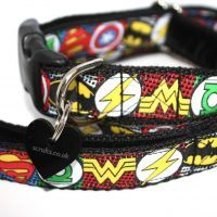 Scrufts' My Hero Velvet Lined Dog Collar and Lead