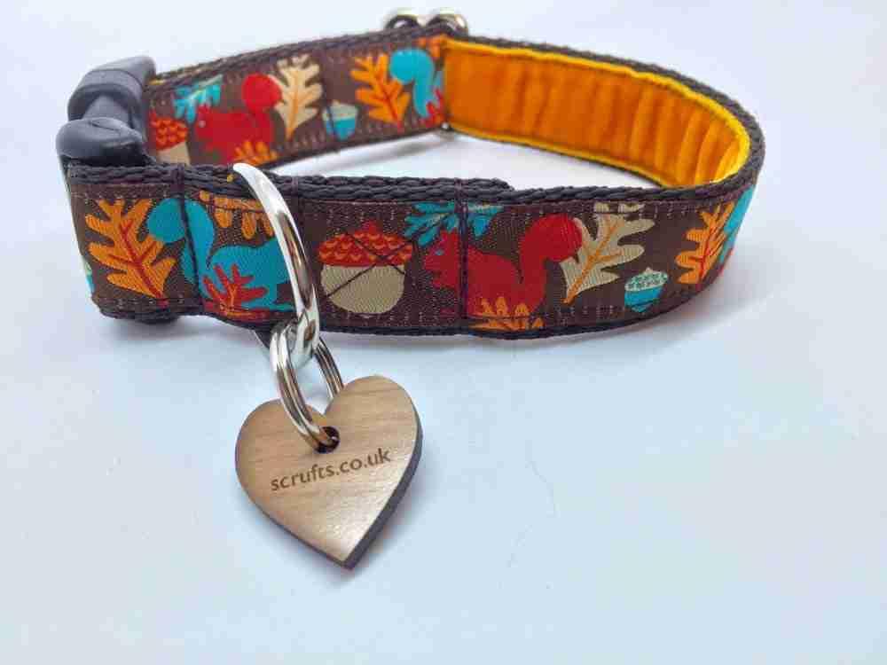 Scrufts' Tufty Squirrel Dog Collar
