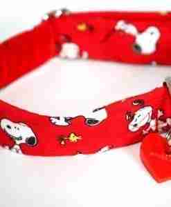Scrufts' Snoopy Doopy Velvet Lined Dog Collar