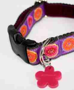 Scrufts Poppy Velvet Lined Dog Collar