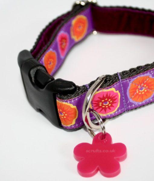 Scrufts Poppy Velvet Lined Dog Collar
