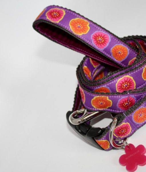 Scrufts Poppy Velvet Lined Dog Collar and Lead