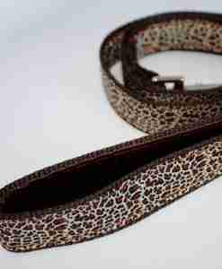 Scrufts' Rovers Return Velvet Lined Leopard Print Dog Lead