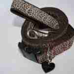 Scrufts' Rovers Return Velvet Lined Leopard Print Dog Collar and Lead