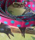 Scrufts' Pink Dotty Tropical Dog Lead