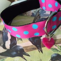 Scrufts' Pink Tropical Velvet Lined Greyhound Collar