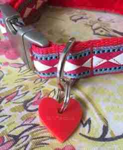 Scrufts' Fez Velvet Lined Harlequin Inspired Dog Collar